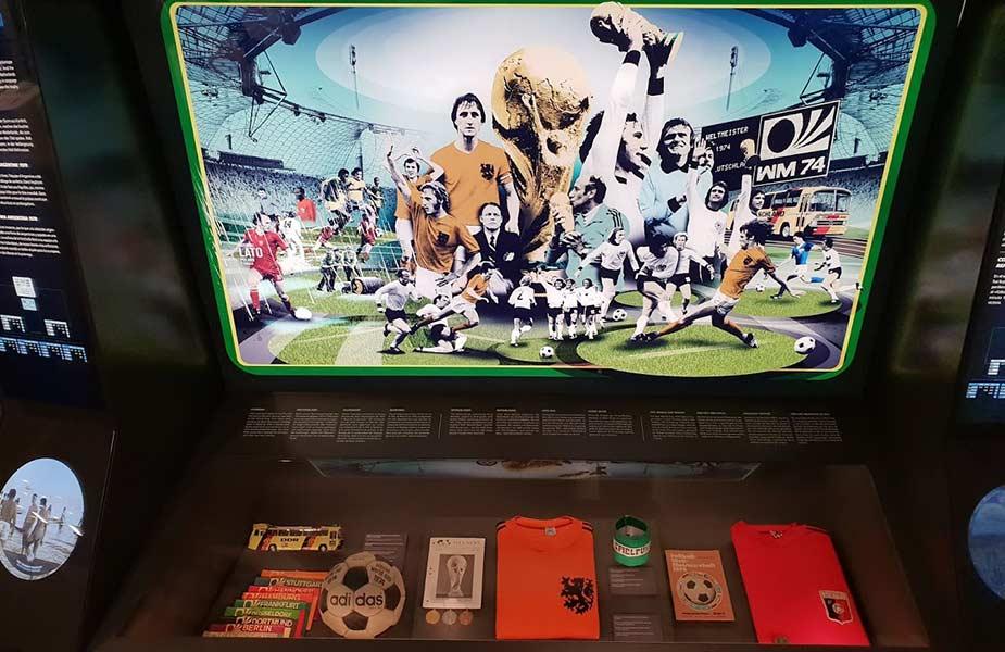 Informatie van WK in het FIFA museum in Zurich