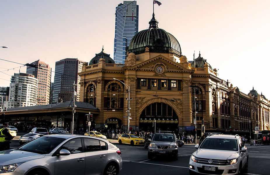 Het station van Melbourne in Australie