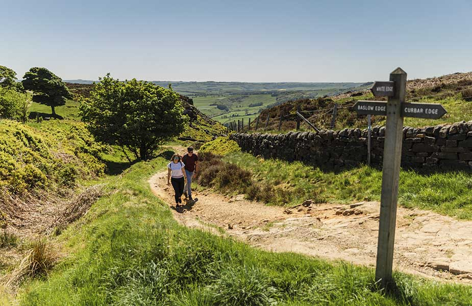 Pennine Way - Peak Distrcit - Curbar Edge wandelroutes in Engeland