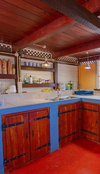 Keuken in ecolodge Bonaire
