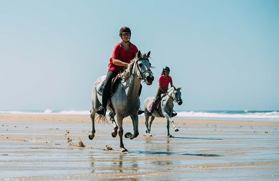 paardrijden strand frankrijk