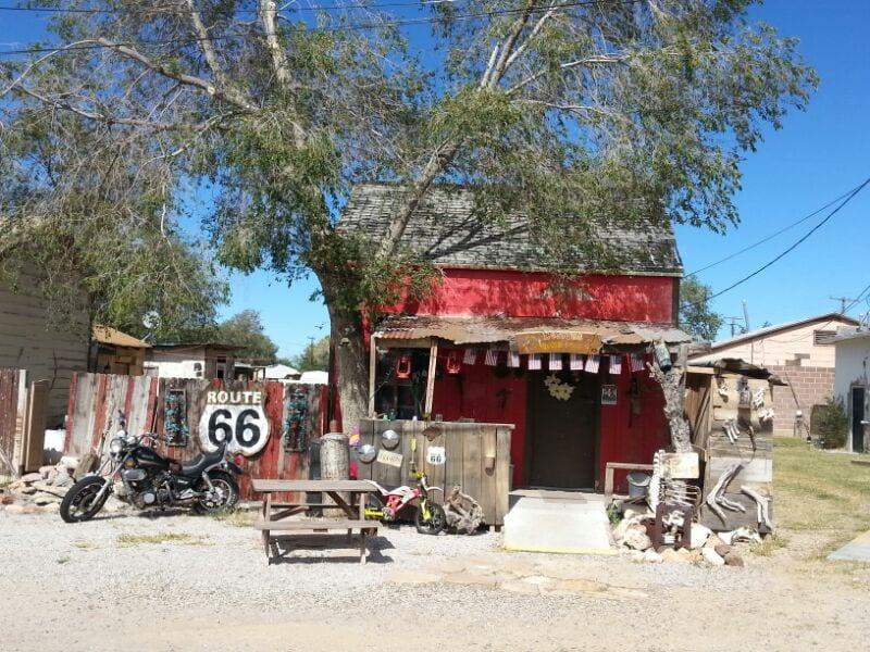 Stalletje bij Route 66 onderweg