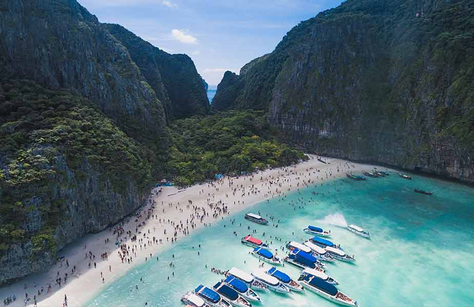 Het Maya Bay strand op Koh Phi Phi in Thailand