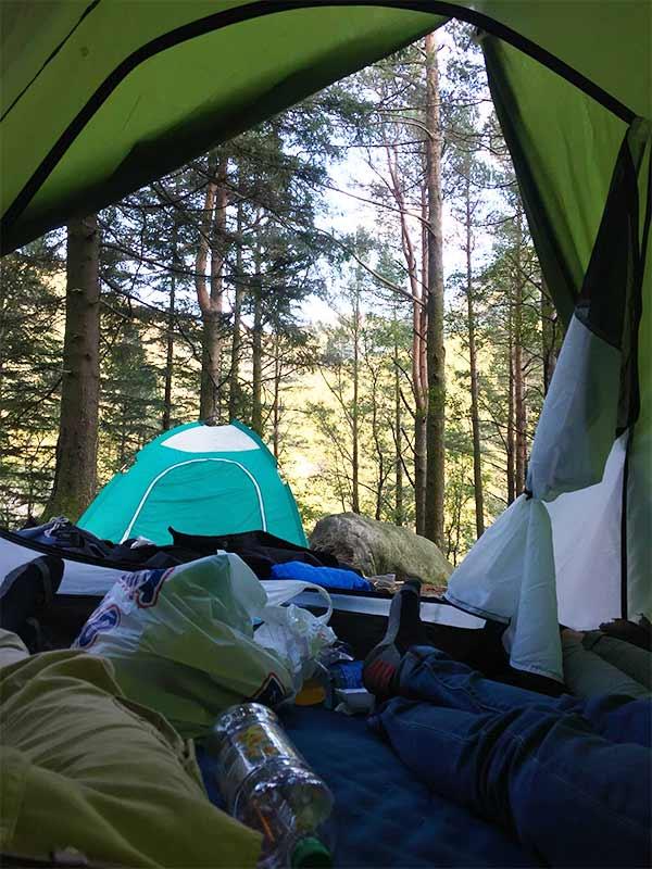 Overnachten in een tent in Kopenhagen