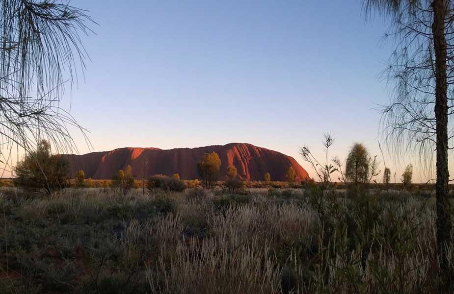 De Ayers Rock in Australie