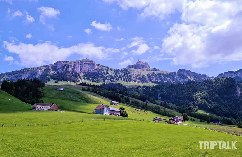 De omgeving rond Brulisau bij Appenzell