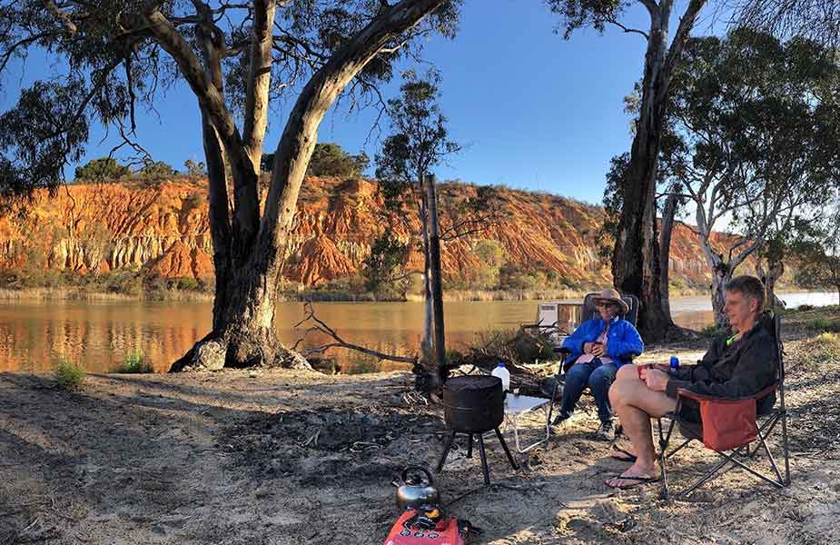 Genieten van camping in Australie