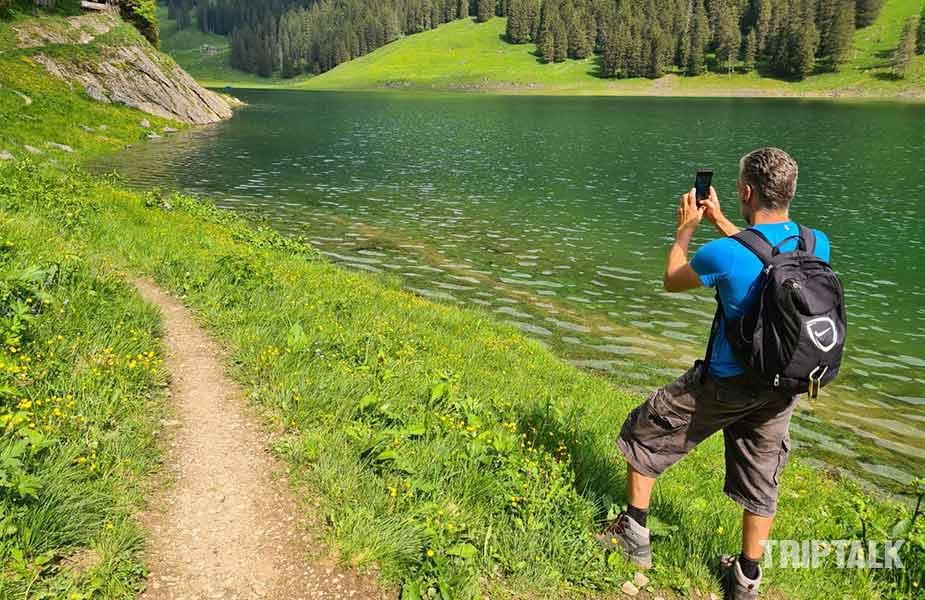 Hiken bij Appenzell; Jeroen bij de Samtisersee