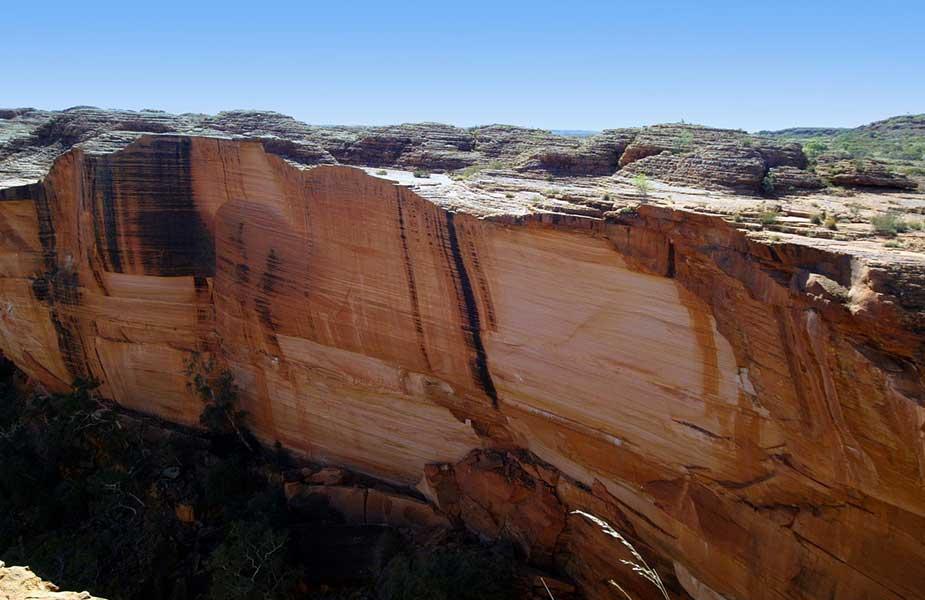 Landschap van de Kings Canyon in Australie