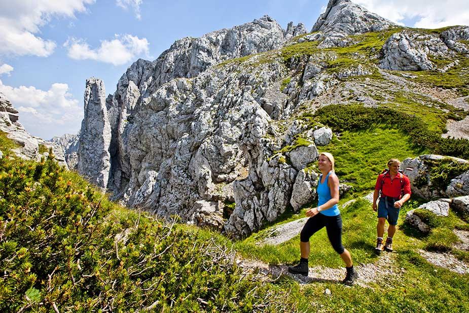 Steiermark wandelen hiken doen in Hoogstiermarken