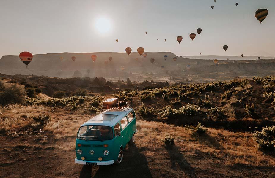 Volkswagen bij Capadocia in Turkije