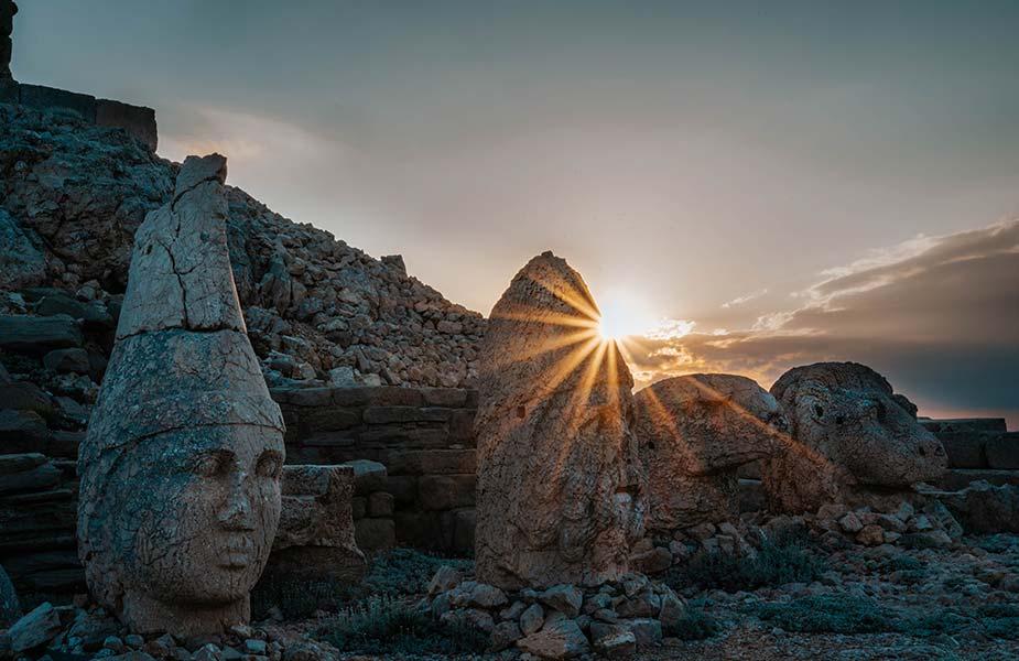 Mt Nemrut in Turkije