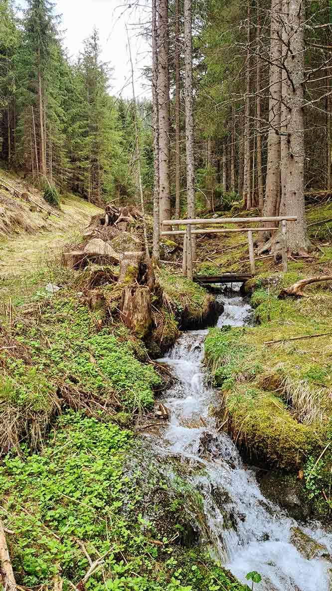Waterval in het bos bij Bad Kleinkirchheim