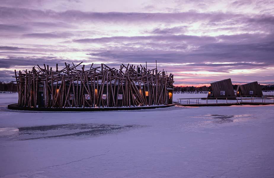 Slapen in het Artic Bath hotel in Lapland