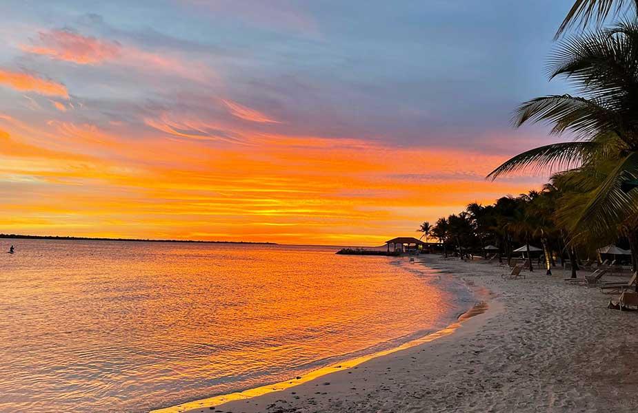 Prachtrige zonsondergang bij Bonaire