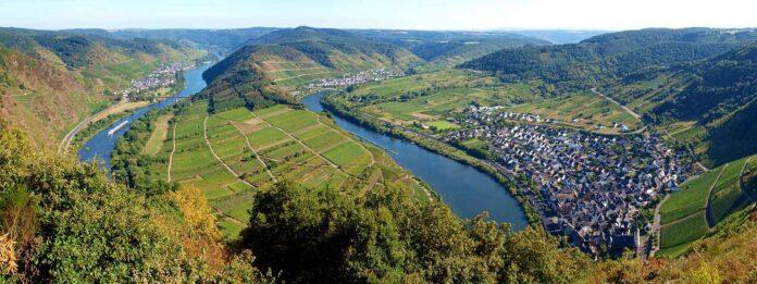 De rivier de Moezel in Duitsland