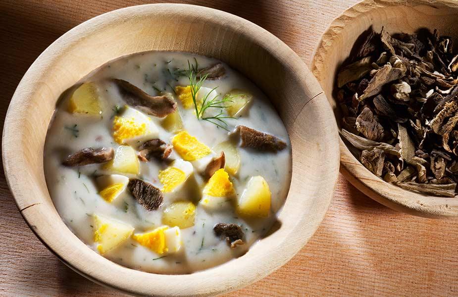 Eten in Tsjechie, de kulajda soep