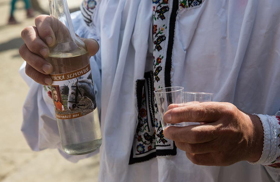 De sterke drank Slivovice uit Tsjechie