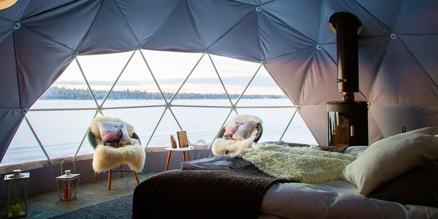 Slapen in Aurora Dome Lapland
