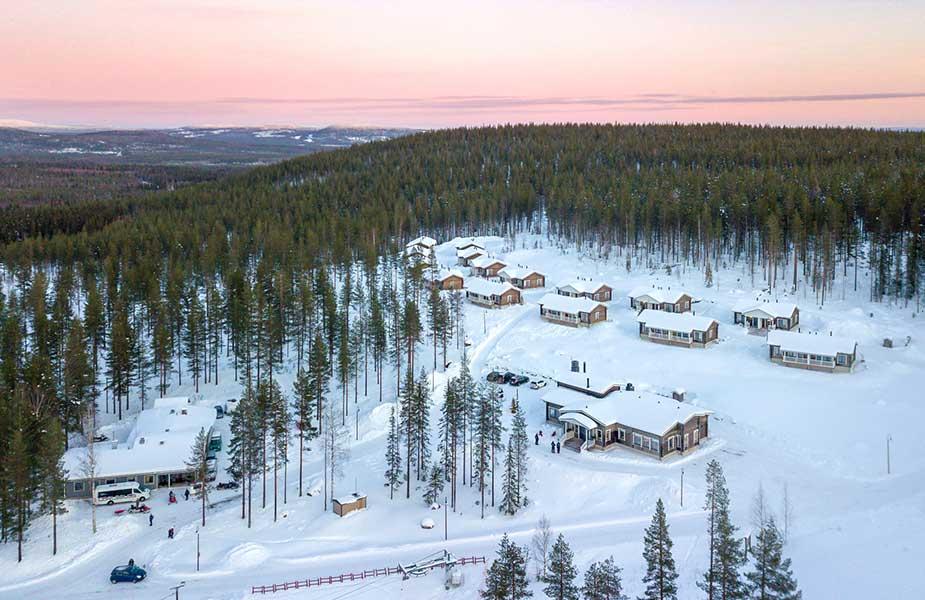 Slapen in de Valkea Lodge tijdens je vakantie in Lapland