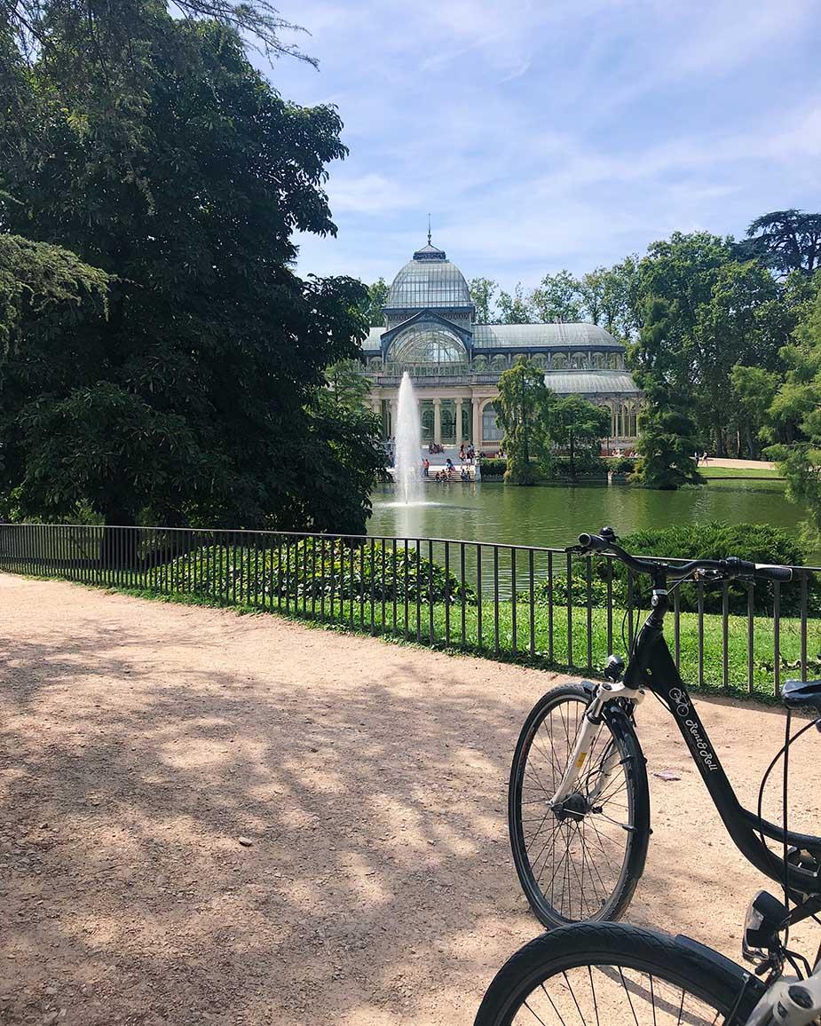 fiets door Madrid