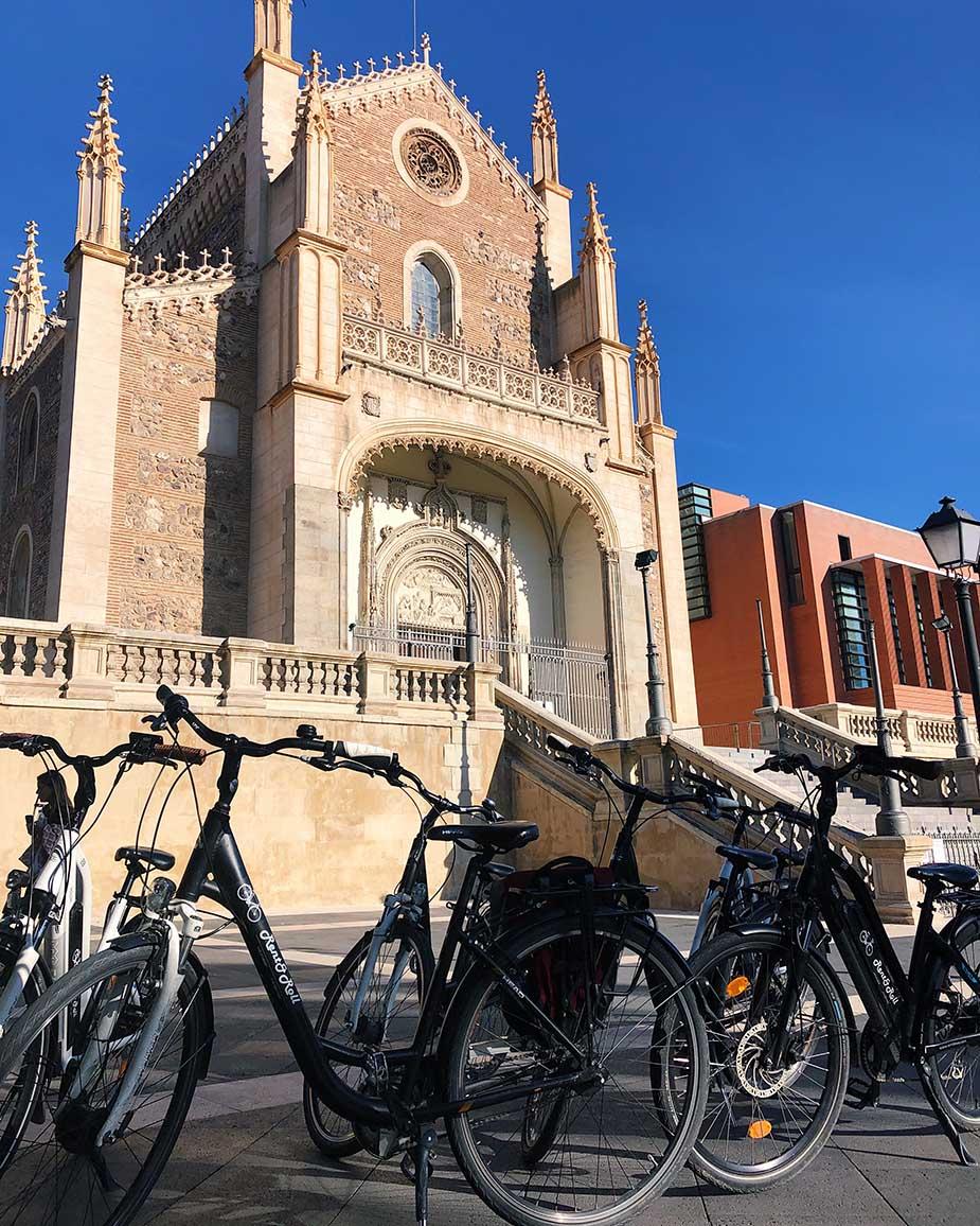 fietsen door madrid